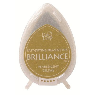 Brilliance Dew Drops inkpads Pearlescent Olive