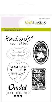 CraftEmotions clearstamps A6 - tekst labels divers (NL)