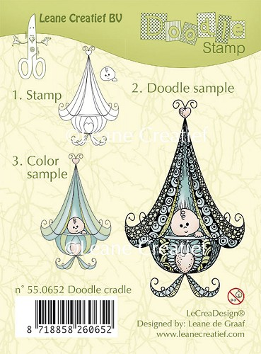 Doodle clear stamp Cradle