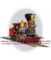 C.C. DESIGNS RUBBER STAMPS LOCOMOTIVE-DOVEART CLING STAMP