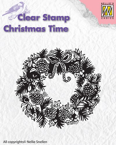 Clear stamps - Christmas Time - Wreath