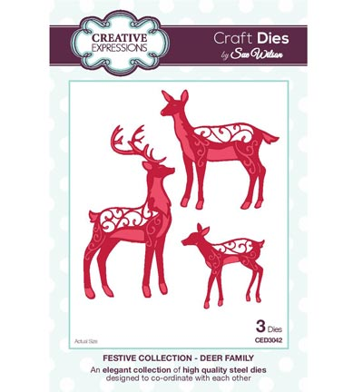 Creative Expressions - The Festive Collection - Deer Family