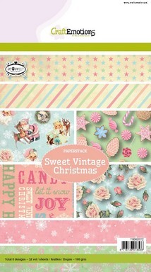 CraftEmotions Paper stack Sweet Vintage Christmas 32 vel A5