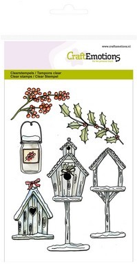 CraftEmotions clearstamps A6 - Vogelhuisjes Home for Christmas