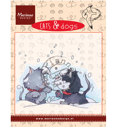 Marianne Design Cats & DogsSnow fight