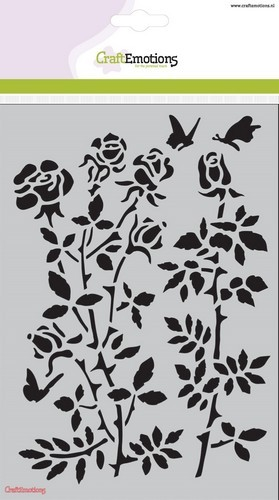 CraftEmotions Mask stencil - Botanical Rose Garden A5