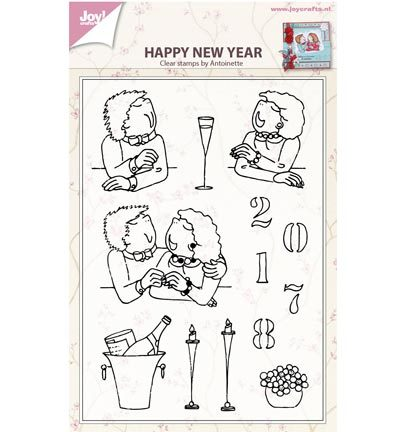 Joy Crafts - Stempels-Happy new year by antoinette