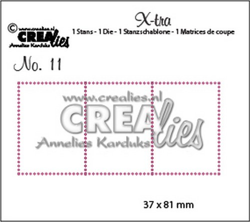 Crealies X-tra no. 11 3 postzegels 37x81mm / CLXTRA11