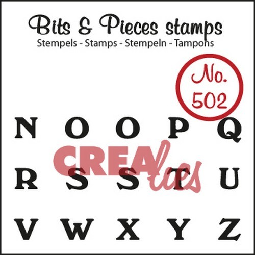 Crealies Clearstamp Bits&Pieces no. 502 N t/m Z 29x55mm / CLBP502