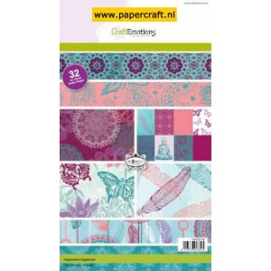 CraftEmotions Paperpad Hapiness 32 vel A5 32 vel