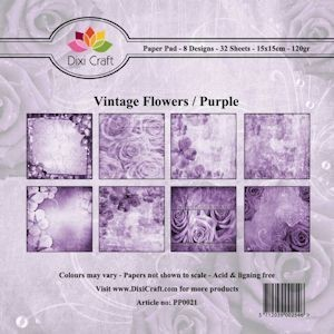dixi craft vintage flowers purple