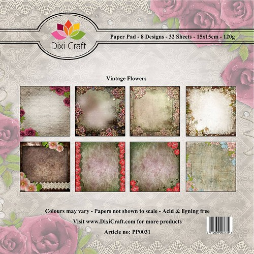 dixi craft vintage flowers