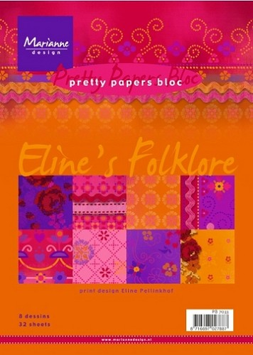 Pretty Papers Bloc - Elines Folklore (Marianne Design)