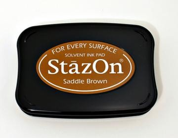 Stazon Stempelkussen - Saddle Brown