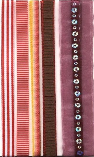 Decorative Ribbon rood/paars nr. 12133-3305