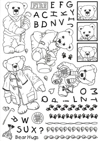Clear Stamps Design House - Bear Life Playing Around