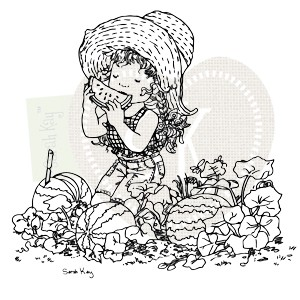 Clearstamp Sarah Kay - Josephine in the Watermelon Patch