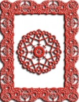 Doily Stans - Celtic Fire Rectangle Frame (Cheery Lynn Designs)