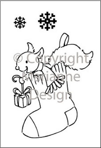 Eline`s Winter Huis - Eline`s Clearstamps - X-mas stocking