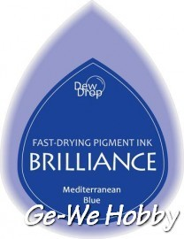 Dew Drop - inktkussen - Brilliance - Pearlescent mediterranean blue