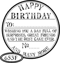 Catslife Press Unmounted Stamp - Happy Birthday Seal - 653F