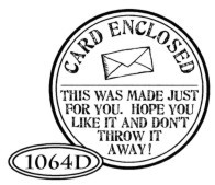 Catslife Press Unmounted Stamp - 1064 D Card Enclosed small seal