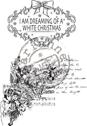 Vintage Dreaming of a white X-mas - Clearstamps - Marianne Design