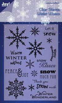 Joy! stempel tekst ENG A6 Winter Wishes