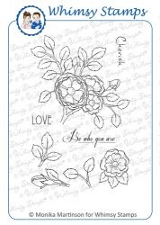 Whimsy stempel - Momas - Build a Rose Bush