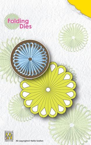 Nellies Folding Dies - Flower-1