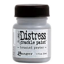 Distress crackle paint - brushed pewter