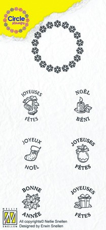 Circle clear stamps Christmas-serie French Texts