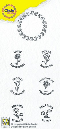 Circle clear stamps Congratulations-serie French Texts