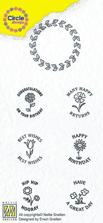 Circle clear stamps Congratulations-serie English Texts