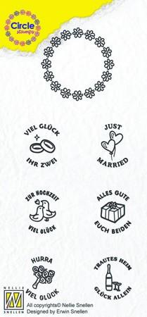 Circle clear stamps Marriage-serie German Texts
