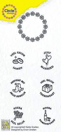 Circle clear stamps Marriage-serie Dutch Texts