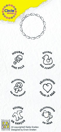 Circle clear stamps Baby-serie French Texts