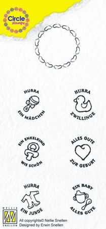 Circle clear stamps Baby-serie German Texts