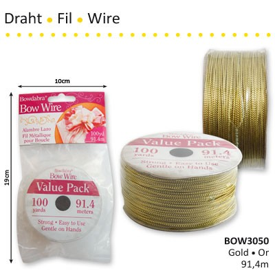 Bowdabra bow wire gold 91,4m