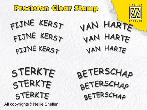 Precision clear stamps Dutch Texts-2