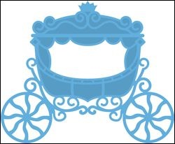 Creatables stencil princess carriage - Marianne Design